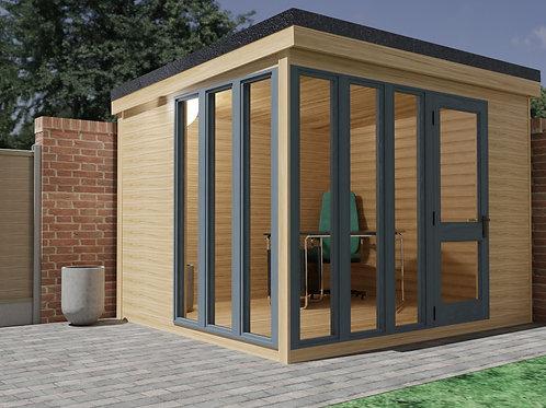 Garden Office Woodwork Build Plans DIY (3.1mx2.8m) Summer House Cabin (10' x 9')