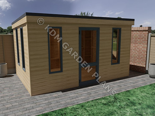 Wooden Garden Office Build Plans DIY 4.1x2.75m Summer House Cabin 13.5Ft x 9Ft