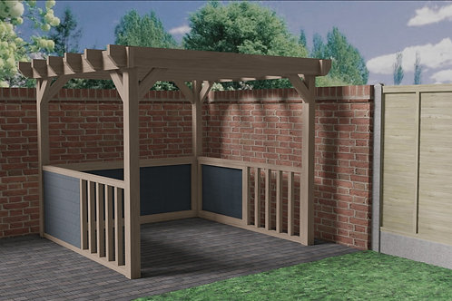 Wooden Garden Panelled Gazebo Build Plans Do It Yourself Woodwork Instructions
