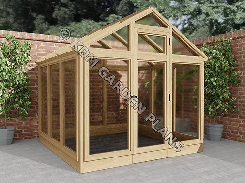 Wooden Garden Greenhouse 2.1mx2.1m DIY (Build Plans Only)