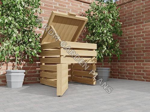 Wooden Garden Compost Bin 0.8mx0.8m DIY (Build Plans Only)