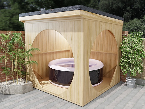 Spa Shelter DIY Build Plans Instructions 2.6 x 2.6m Cube Lazy Spa Hot Tub