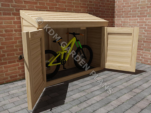 Wooden Garden Tool Store or Bicycle Lock Up Build Plans Do It Yourself BBQ Store