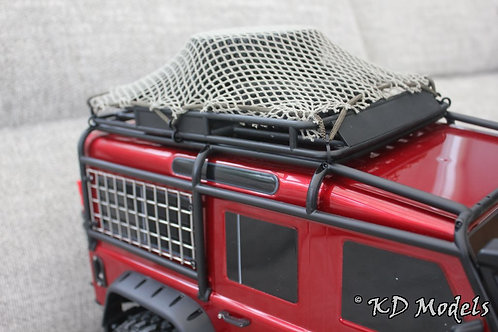 Camo Stretch Roof Rack Netting and Hooks for TRX-4 Olive Drab