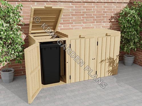 Woodwork Plans for Single Double Triple Wheelie Store (Build Plans Only)