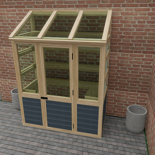 Wooden Lean To Greenhouse Build Plans Do It Yourself Instructions 3 x 6 ft