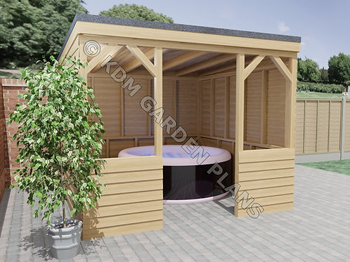 Hot Tub Spa Shelter 3.0mx3.0m (Build Plans Only No Materials)