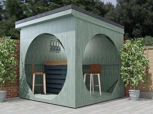Garden Cube Bar Space Woodwork Build Plans DIY (2.6x2.6m) Summer House Cabin