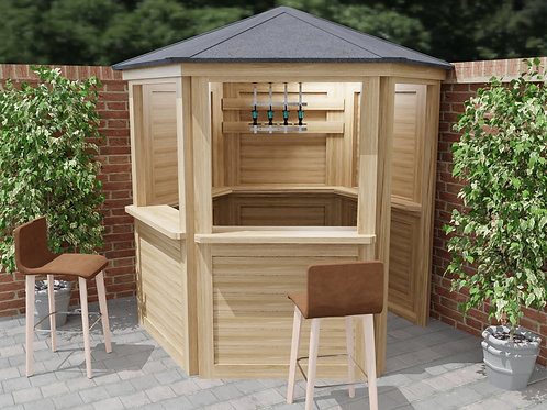 Hexagonal Garden Bar Build Plans Instructions Cocktail Gin Tiki Home Bar