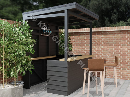 Home Garden Bar / Barbeque Build Plans Instructions Small Tiki Style 1.5m x 2m