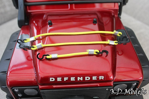 Bungee Cord - Roof Rack Straps set (x6) for TRX-4 (Colour Choice)
