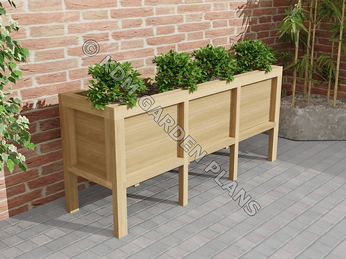 Woodwork Plans for Vegetable Grow Box 1.8m (220 Ltr) (Plans Only by Email)
