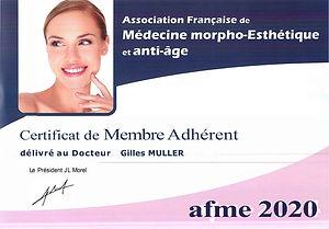 Certificat Membre AFME 2020 - Gilles Muller