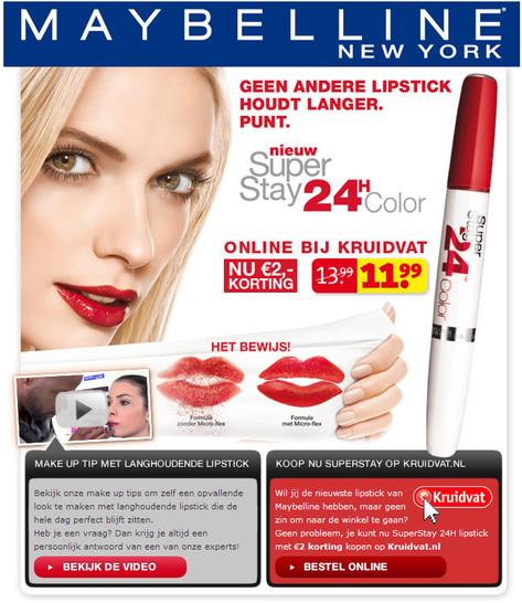 Maybelline New York Advertise
