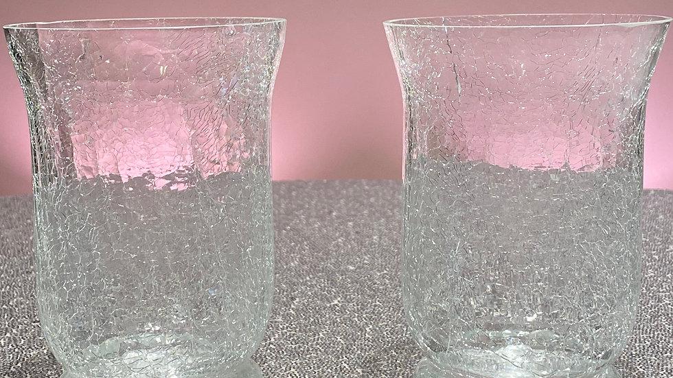 2 Decorative Glass Vases