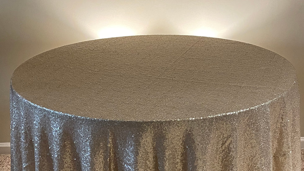 Gold Accent Sequin Tablecloth