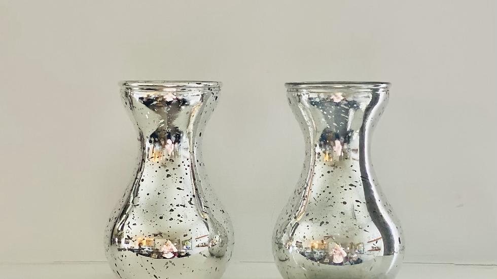 2 Hourglass Vases