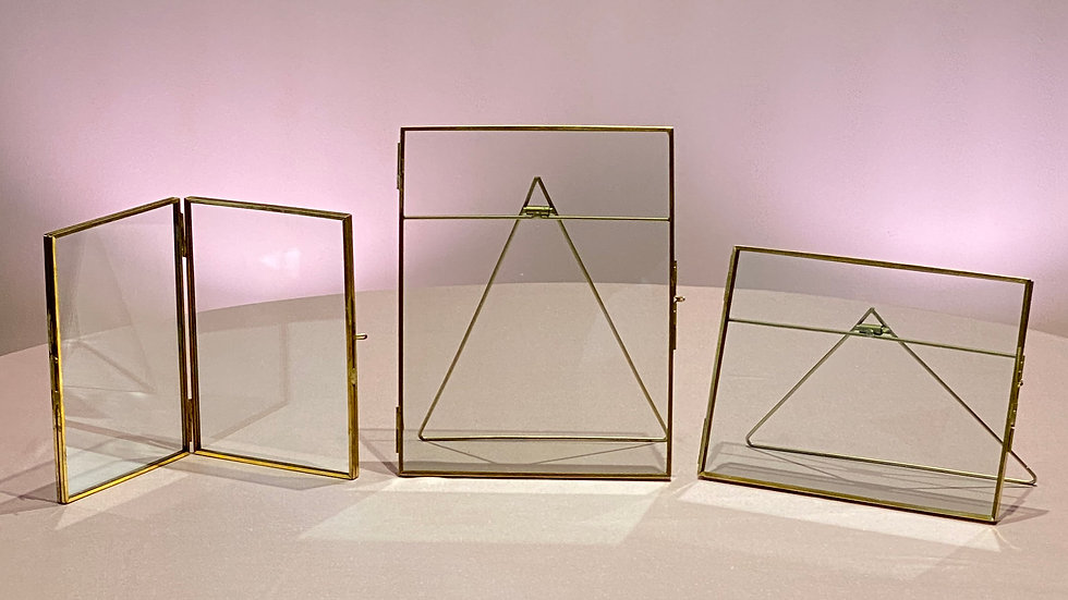 3 Gold Picture Frames