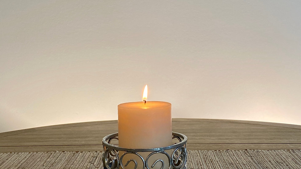 Small Silver Candle Holder