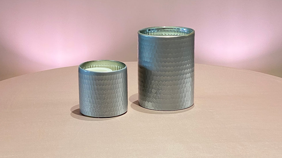 Small & Large Silver Vases