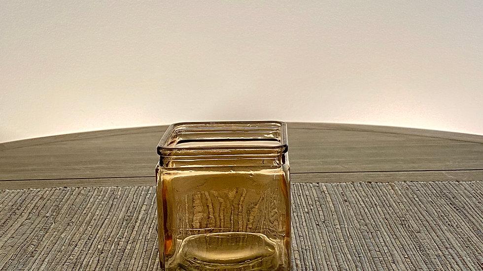 Tan Square Vase