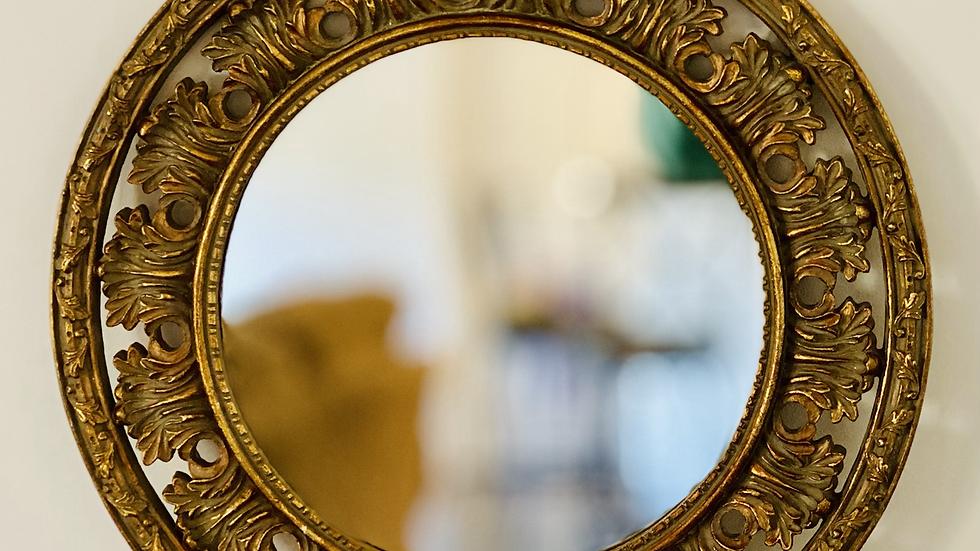 Gold Accent Mirror