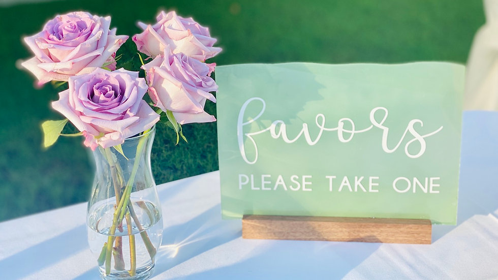 Sea Glass Favors Sign