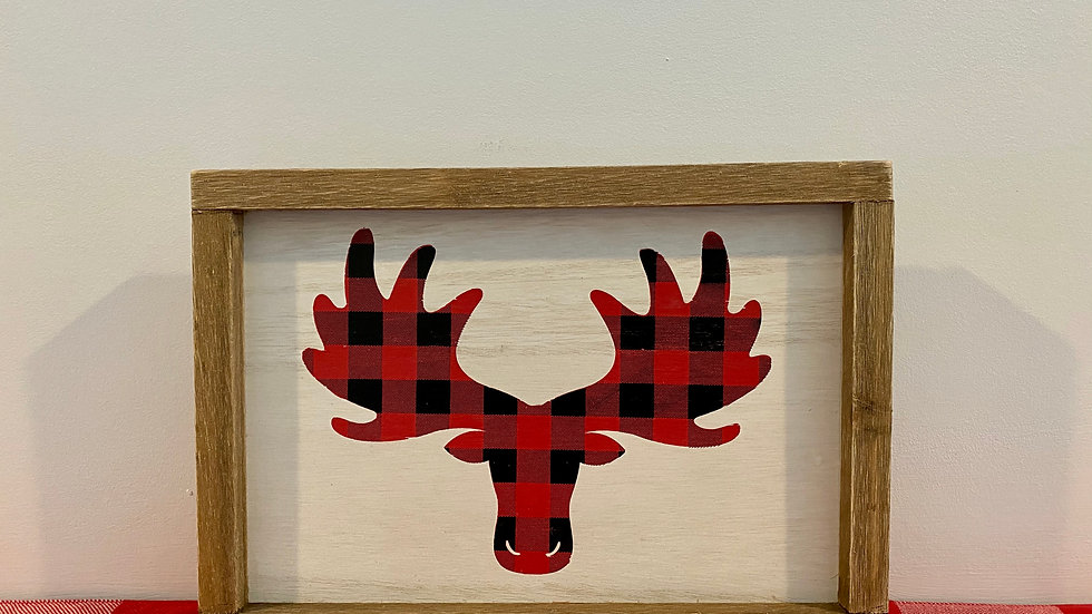 Flannel Moose Picture