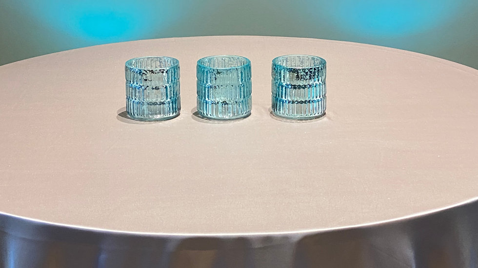 Blue Mercury Glass Votives