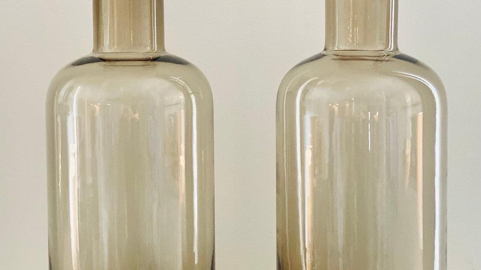 2 Gray Vases