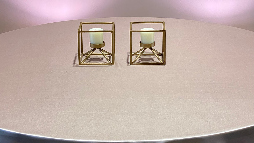2 Gold Candle Holders