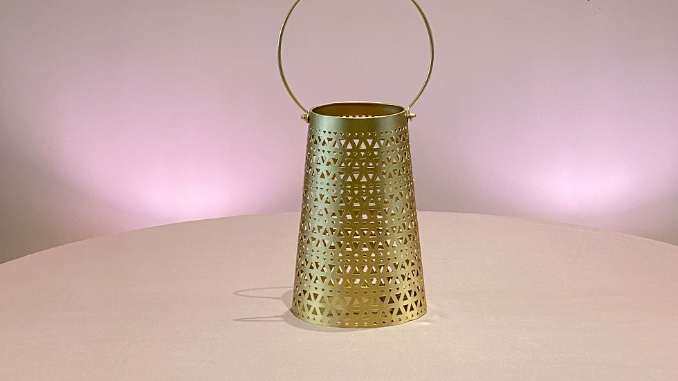 Gold Accent Candle Holder