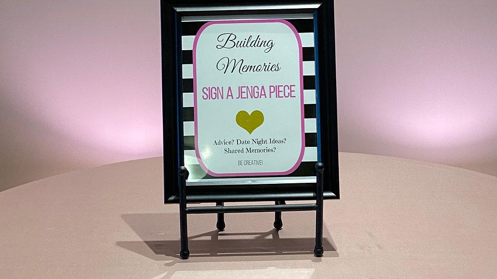 Jenga Piece Sign
