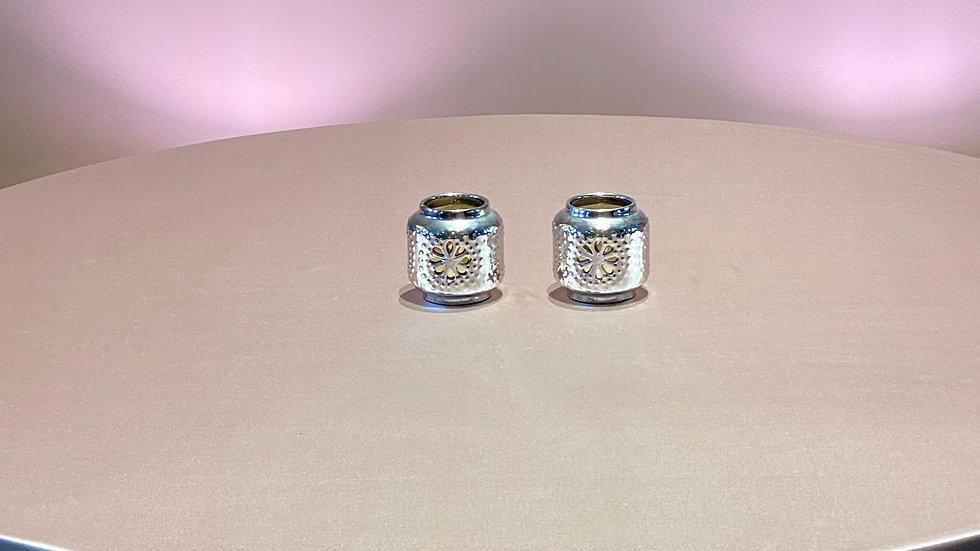 2 Silver Votive's