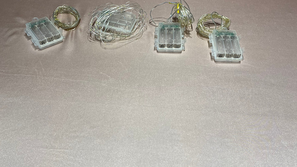 4 Silver Fairy Lights
