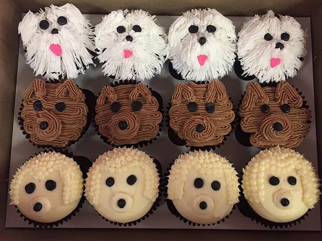 How adorable are these custom PUPPER cupcakes_! Have an idea_ Bring it to us and we'll do our best t