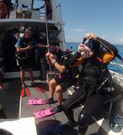 family dive trip