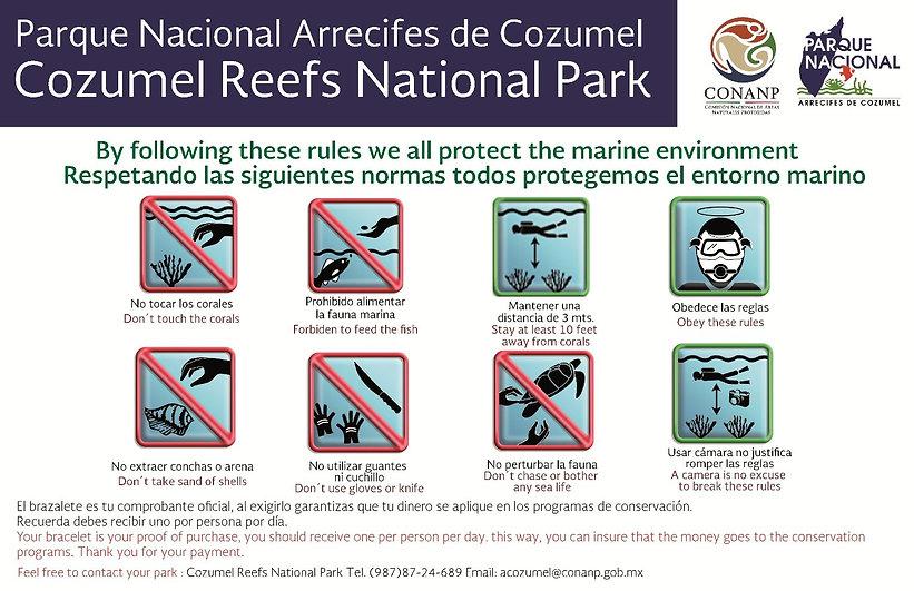 national marine cozumel park rules
