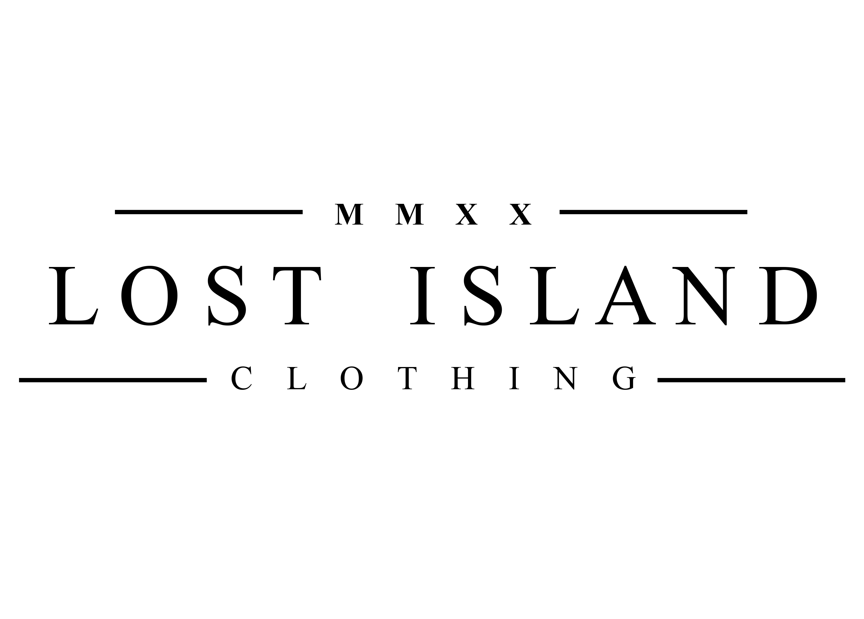 lost island logo white