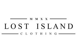 lost island logo white