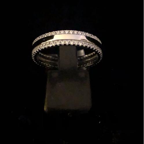 Stone set band ring