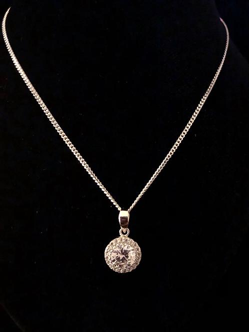 Fancy cluster necklace