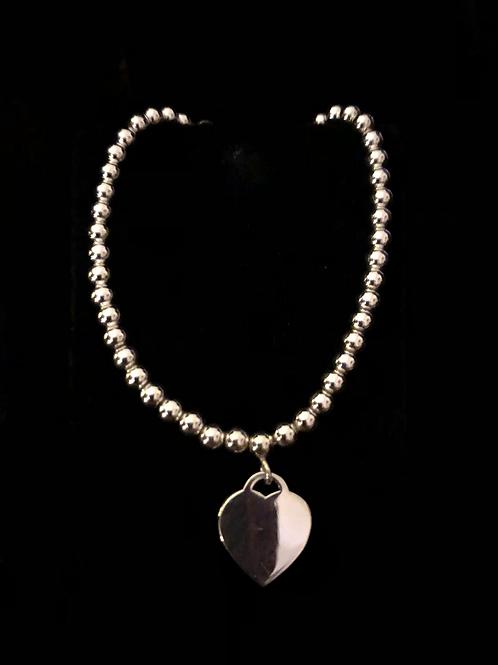 Ball and hart bracelet