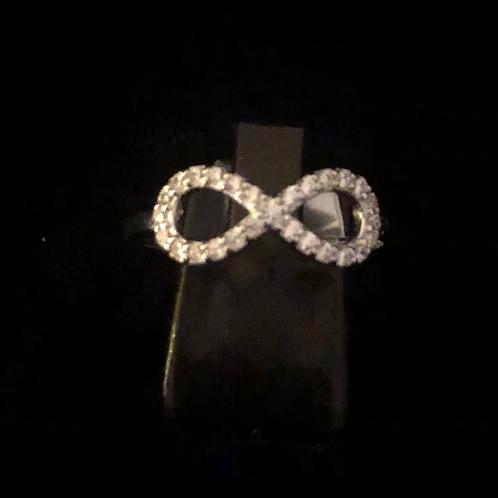 Stone set Infinity ring