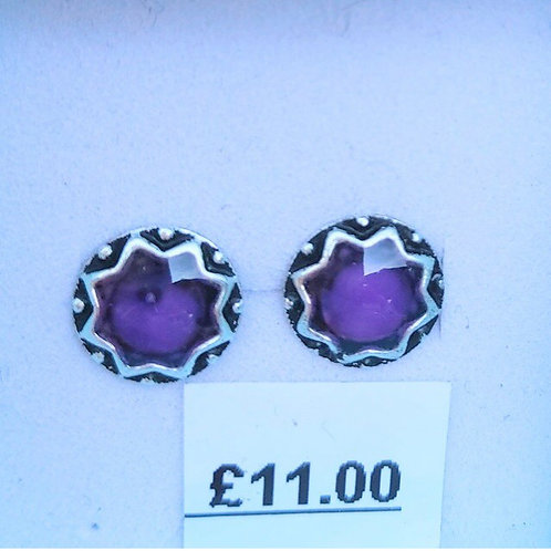Purple stone set studs