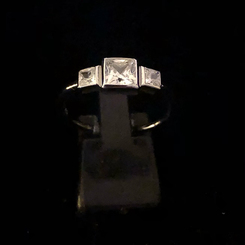 3 x stone set ring