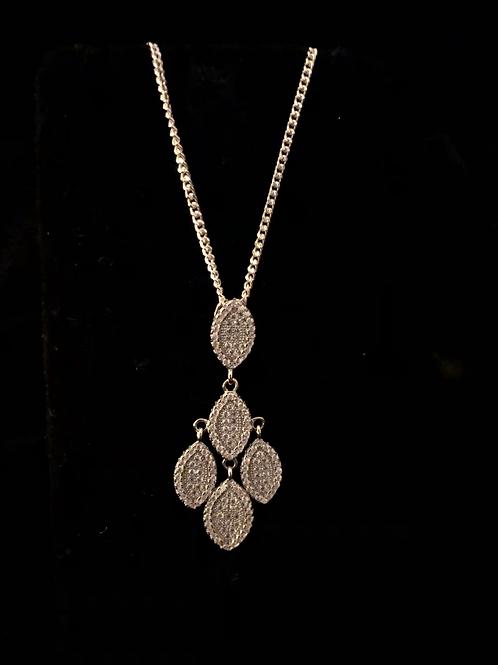 Fancy stone set necklace