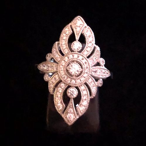 Fancy stone set ring