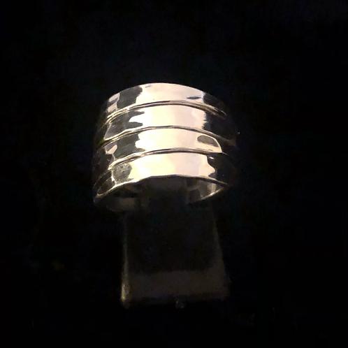 Silver 4x bar ring