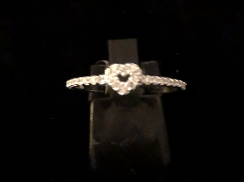 Stone set hart ring